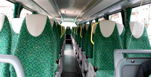 Interior de los Autobuses Irún AUIF