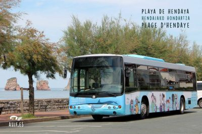 Autobús Playa Hendaia