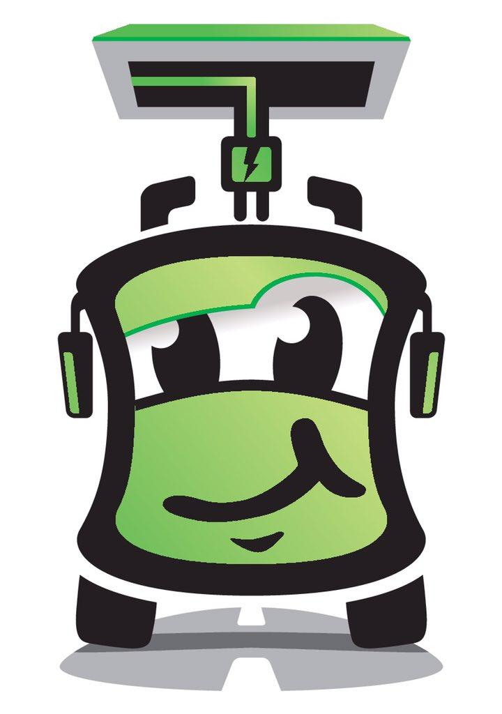 Logo verde de Irunbus para los autobuses eléctricos que llegarán en 2019 a Irun