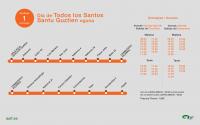 Servicio autobús Todos los Santos 2018