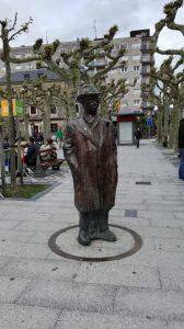 Escultura Pío Baroja en Irun