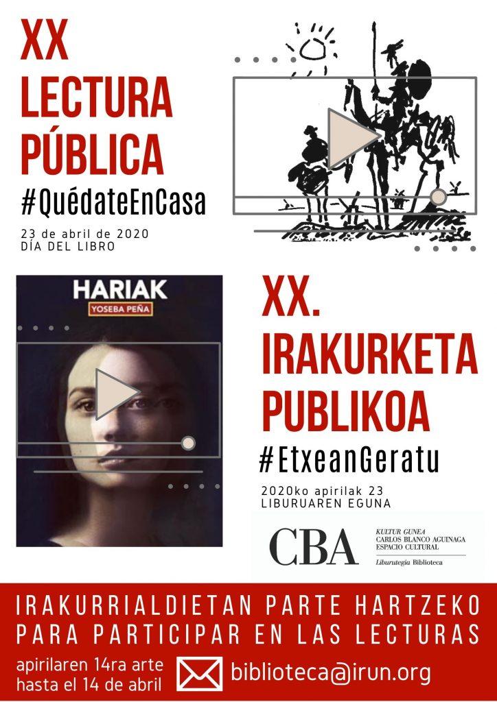 Día del Libro, 23 de abril de 2020 CBA Irun.