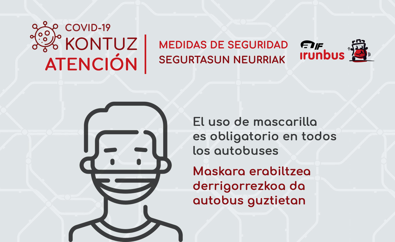 El uso de mascarillas es obligatorio en el transporte público