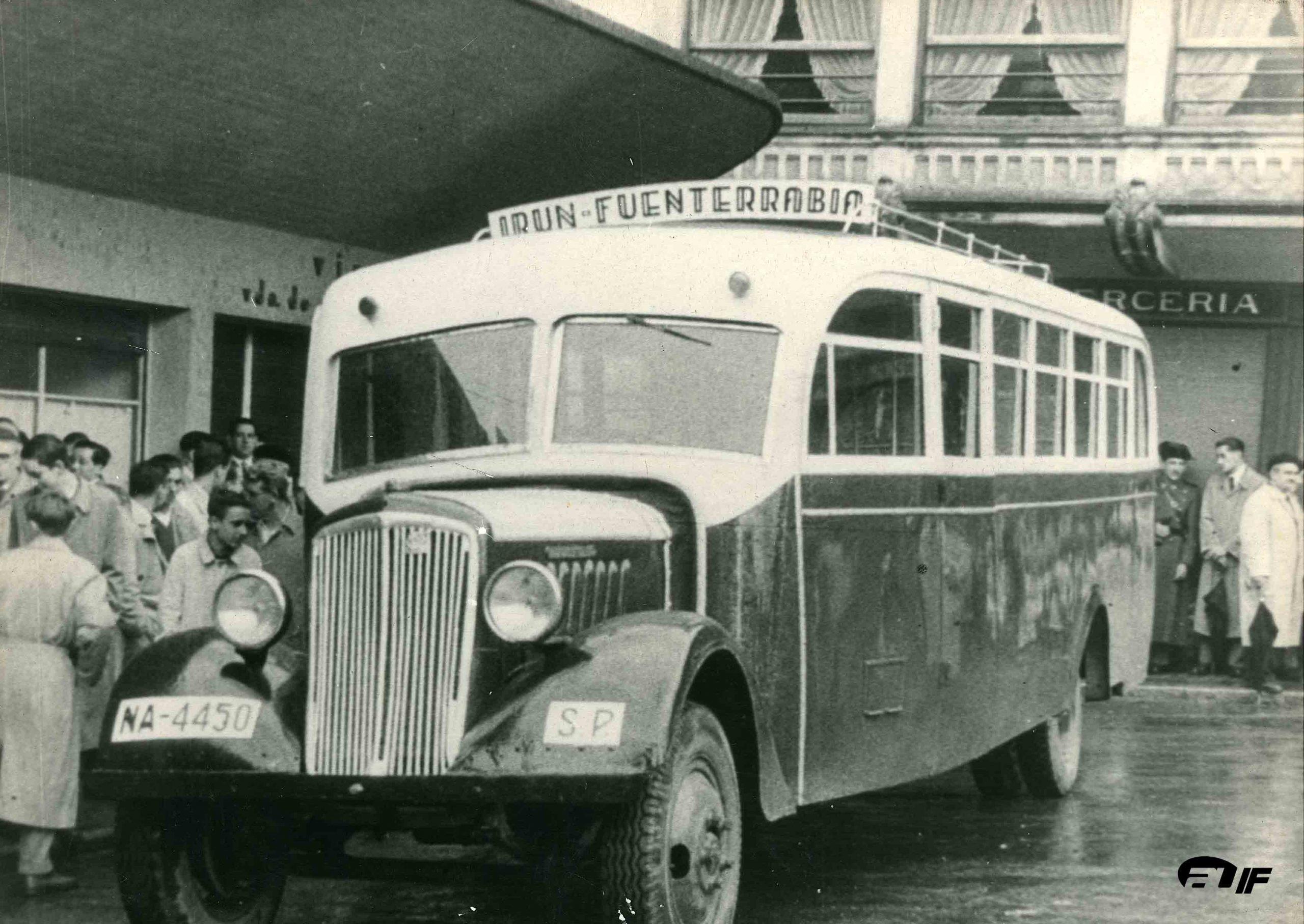 Autobús en la Visera - Irun